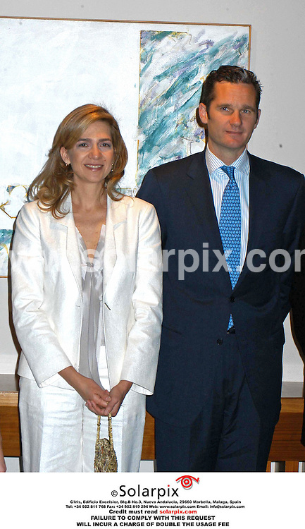 ALL ROUND PICTURES FROM SOLARPIX.COM.MUST CREDIT SOLARPIX.COM OR DOUBLE FEE INCURRED.*NOT FOR SYNDICATION IN SPAIN*.The European journalism awards yesterday was presented by the Spanish royal princess Cristina, the award is called ' Salvador de Madariaga' and was presented at the Madrid Auditorium.princess cristina and husband inaki urdangarin.This pic:.DATE:09.05.06-JOB REF:2315-SPA