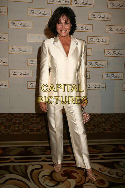MICHELE LEE.The 51st Annual Thalians Ball at the Hyatt Regency Century Plaza Hotel, Century City, California, USA..October 7th, 2006.Ref: ADM/BP.full length white satin jacket trousers.www.capitalpictures.com.sales@capitalpictures.com.©Byron Purvis/AdMedia/Capital Pictures.
