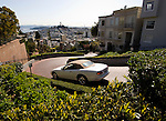 California: San Francisco, Lombard Street, Crookedest Street. Photo copyright Lee Foster.  Photo #: san-francisco-lombard-street-19-casanf78728.