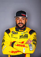 Feb 7, 2018; Pomona, CA, USA; NHRA funny car driver J.R. Todd poses for a portrait during media day at Auto Club Raceway at Pomona. Mandatory Credit: Mark J. Rebilas-USA TODAY Sports