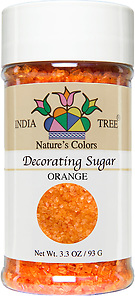 10259 Nature's Colors Orange Decorating Sugar, Small Jar 3.3 oz