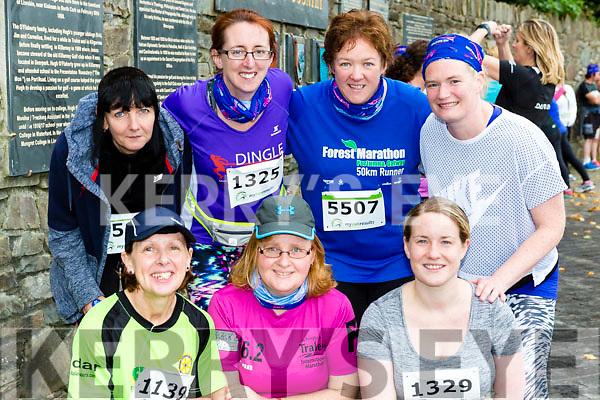 Tralee runners Lucy Fitzell, Ann O'Shea, Maria Moynihan. Back row: Pauline Walker, Niamh Abeyta, Kirsty McTrusty and Niamh O'Sullivan Tralee at the Killarney Women's mini-marathon on Saturday