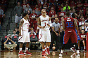 November 17, 2013: Deverell Biggs (1) of the Nebraska Cornhuskers not happy after drawing  foul against the South Carolina State Bulldogs at the Pinnacle Bank Areana, Lincoln, NE. Nebraska defeated South Carolina State 83 to 57.