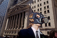 Environmental activists protest the state of the planet on Wall Street in New York in April 1990. (© Frances M. Roberts)