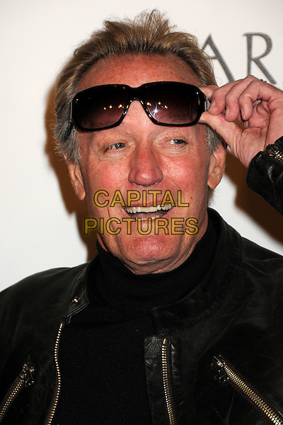 "PETER FONDA .""The Boondock Saints II: All Saints Day"" Los Angeles Premiere held at Arclight Cinemas, Hollywood, California, USA..October 28th, 2009.headshot portrait black leather sunglasses shades hand mouth open.CAP/ADM/BP.©Byron Purvis/AdMedia/Capital Pictures."