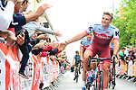 Marcel Kittel (GER) and Team Katusha-Alpecin at the Team Presentations for the 105th Tour de France 2018 held on Napoleon Square in La Roche-sur-Yon, France. 5th July 2018. <br /> Picture: ASO/Alex Broadway | Cyclefile<br /> All photos usage must carry mandatory copyright credit (&copy; Cyclefile | ASO/Alex Broadway)