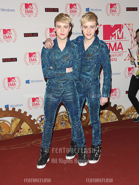 Jedward arriving for the The MTV EMA's 2012 held at Festhalle, Frankfurt, Germany. 11/11/2012 Picture by: Henry Harris / Featureflash