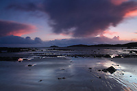 Storm Clouds over Hestan at dusk from Rockcliffe, Galloway<br /> <br /> Copyright www.scottishhorizons.co.uk/Keith Fergus 2012 All Rights Reserved