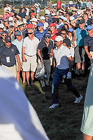 Jason Day (AUS) watches his hit from the gallery on 15 during round 1 foursomes of the 2017 President's Cup, Liberty National Golf Club, Jersey City, New Jersey, USA. 9/28/2017.<br /> Picture: Golffile   Ken Murray<br /> ll photo usage must carry mandatory copyright credit (&copy; Golffile   Ken Murray)