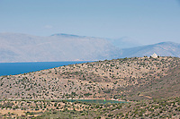 Scenic drive to Delphi in the Gulf of Corinth, near Galaxidi, Greece