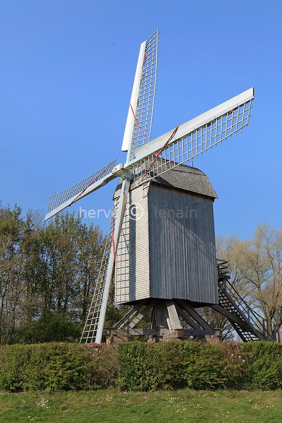 France, Nord (59), Steenvoorde, moulin de la Roome // France, Nord, Steenvoorde, mill of the Roome