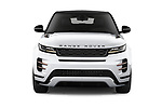 Car photography straight front view of a 2019 Land Rover Range-Rover-Evoque Dynamic 5 Door SUV Front View