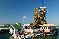 Forbes Island at the harbor at Pier 39, Fisherman's Wharf, San Francisco, California