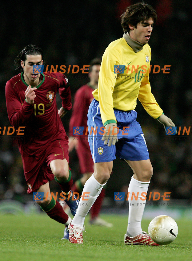 Brazil's  against Portugal's  during a friendly match at Emirates Stadium in London, Tuesday February 06, 2007. (INSIDE/ALTERPHOTOS/Alvaro Hernandez).