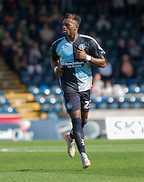 Gozie Ugwu of Wycombe Wanderers  in action on his debut during the Sky Bet League 2 match between Wycombe Wanderers and Plymouth Argyle at Adams Park, High Wycombe, England on 12 September 2015. Photo by Andy Rowland.