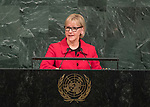 72 General Debate – 22 September <br /> <br /> <br /> <br /> Minister for Foreign Affairs of Sweden,  Margot Wallström.