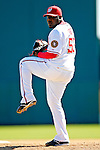 6 March 2007: Washington Nationals pitcher Emiliano Fruto in Grapefruit League action against the Atlanta Braves at Space Coast Stadium in Viera, Florida.<br /> <br /> Mandatory Photo Credit: Ed Wolfstein Photo