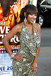 "Actress Meagan Good arrives at the Los Angeles Premiere of ""The Love Guru"" on June 11, 2008 at Grauman's Chinese Theatre in Hollywood, California."