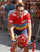 Alberto Contador before the stage of La Vuelta 2012 beetwen Cercedilla and Madrid.September 9,2012. (ALTERPHOTOS/Paola Otero)
