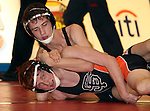 SIOUX FALLS, SD - DECEMBER 28:  Ryan Wiley from Sturgis has control of Hunter OConnor from Washington in their 120 pound championship match Saturday afternoon December 28, 2013 at Lincoln High School in Sioux Falls, South Dakota. (Photo by  Dave Eggen/Inertia)