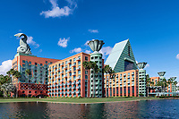 The Walt Disney World Dolphin is a resort hotel designed by architect Michael Graves, Bay Lake, Florida, USA.