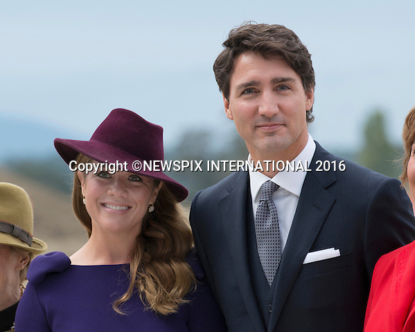 24.09.2016; Victoria, Canada: CANADIAN PREMIER JUSTIN TRUDEAU AND WIFE SOPHIE GREGOIRE<br /> await the arrival of the Cambridges at Victoria Airport.<br /> The tour will take Royals to parts of both British Columbia and the Yukon.<br /> Mandatory Photo Credit: &copy;Francis Dias/NEWSPIX INTERNATIONAL<br /> <br /> IMMEDIATE CONFIRMATION OF USAGE REQUIRED:<br /> Newspix International, 31 Chinnery Hill, Bishop's Stortford, ENGLAND CM23 3PS<br /> Tel:+441279 324672  ; Fax: +441279656877<br /> Mobile:  07775681153<br /> e-mail: info@newspixinternational.co.uk<br /> Usage Implies Acceptance of OUr Terms &amp; Conditions<br /> Please refer to usage terms. All Fees Payable To Newspix International