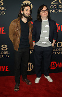 6 January 2018 - Los Angeles, California - Michael Angarano and Clark Duke. Showtime Golden Globe Nominee Celebration held at the Sunset Tower Hotel in Los Angeles. Photo Credit: AdMedia