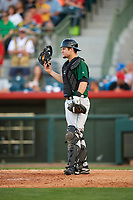 Daytona Tortugas catcher Chris Okey (25) during a game against the Florida Fire Frogs on April 6, 2017 at Osceola County Stadium in Kissimmee, Florida.  Daytona defeated Florida 3-1.  (Mike Janes/Four Seam Images)