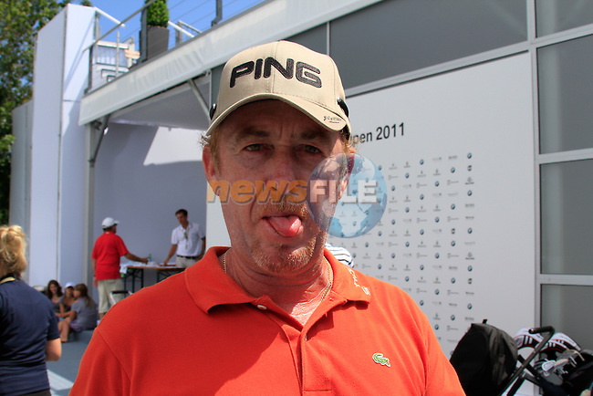 Miguel Angel Jimenez (ESP) after finishing his round in the Pro-Am Day of the BMW International Open at Golf Club Munchen Eichenried, Germany, 22nd June 2011 (Photo Eoin Clarke/www.golffile.ie)