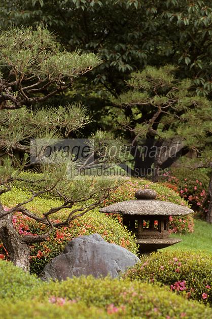 Asie/Japon/Kyoto: Le chateau de Nijo ou Nijojo - Détail des jardins