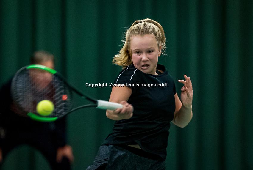 Wateringen, The Netherlands, December 1,  2019, De Rhijenhof , NOJK 12 and16 years, Final girls 12 years: Britt du Pree (NED)<br /> Photo: www.tennisimages.com/Henk Koster