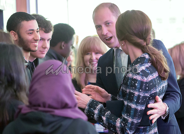 14 October 2016 - Manchester, United Kingdom - Prince William Duke of Cambridge and Princess Kate Duchess of Cambridge visit The University of Manchester visit The National Football Museum in Manchester. Photo Credit: Alpha Press/AdMedia