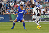 Roger Espinoza, Sainey Nyassi #17...Kansas City Wizards defeated New England Revolution 4-1 at Community America Ballpark, Kansas City, Kansas.