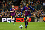 Philippe Coutinho of FC Barcelona looks to bring the ball down during the La Liga match between Barcelona and Real Sociedad at Camp Nou on May 20, 2018 in Barcelona, Spain. Photo by Vicens Gimenez / Power Sport Images
