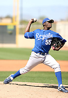 Carlos Fortuna, Kansas City Royals 2010 minor league spring training..Photo by:  Bill Mitchell/Four Seam Images.