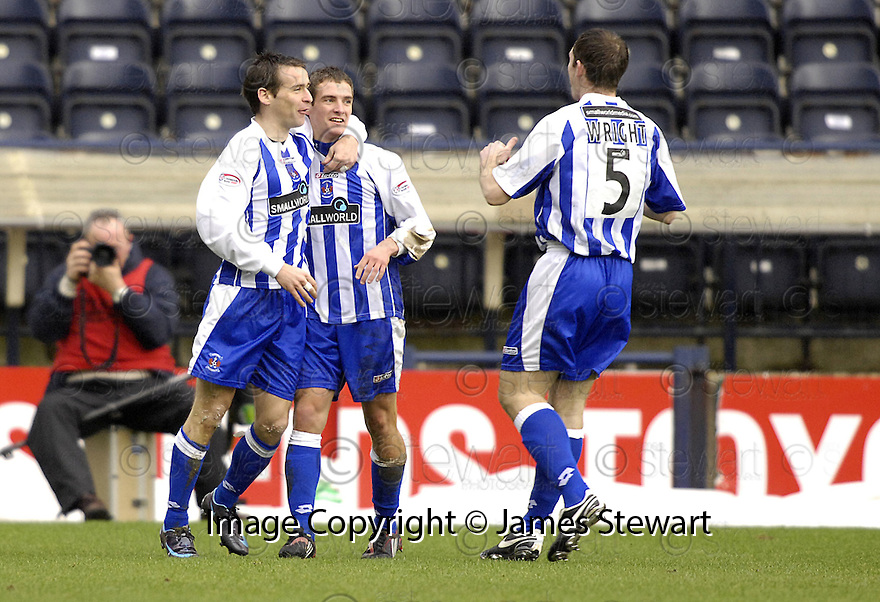 24/02/2008    Copyright Pic: James Stewart.File Name : sct_jspa04_kilmarnock_v_aberdeen.CRAIG BRYSON CELEBRATES AFTER HE SCORES KILMARNOCK'S FIRST.James Stewart Photo Agency 19 Carronlea Drive, Falkirk. FK2 8DN      Vat Reg No. 607 6932 25.Studio      : +44 (0)1324 611191 .Mobile      : +44 (0)7721 416997.E-mail  :  jim@jspa.co.uk.If you require further information then contact Jim Stewart on any of the numbers above........