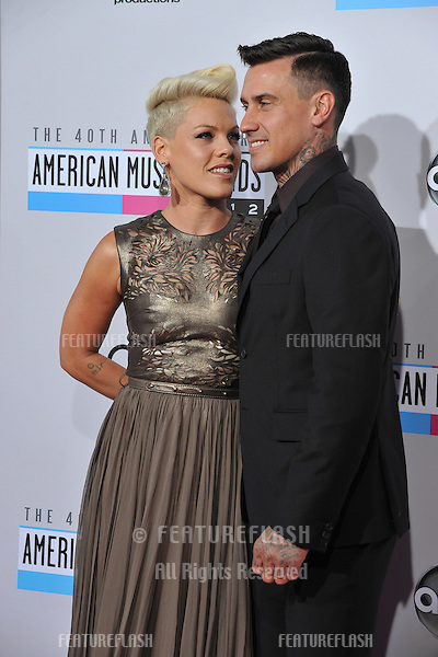 Pink & Carey Hart at the 40th Anniversary American Music Awards at the Nokia Theatre LA Live..November 18, 2012  Los Angeles, CA.Picture: Paul Smith / Featureflash