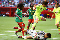 June 12, 2015: Ayumi KAIHORI of Japan saves the ball during a Group C match at the FIFA Women's World Cup Canada 2015 between Cameroon and Japan at BC Place Stadium on 12 June 2015 in Vancouver, Canada. Japan won 2-1. Sydney Low/AsteriskImages