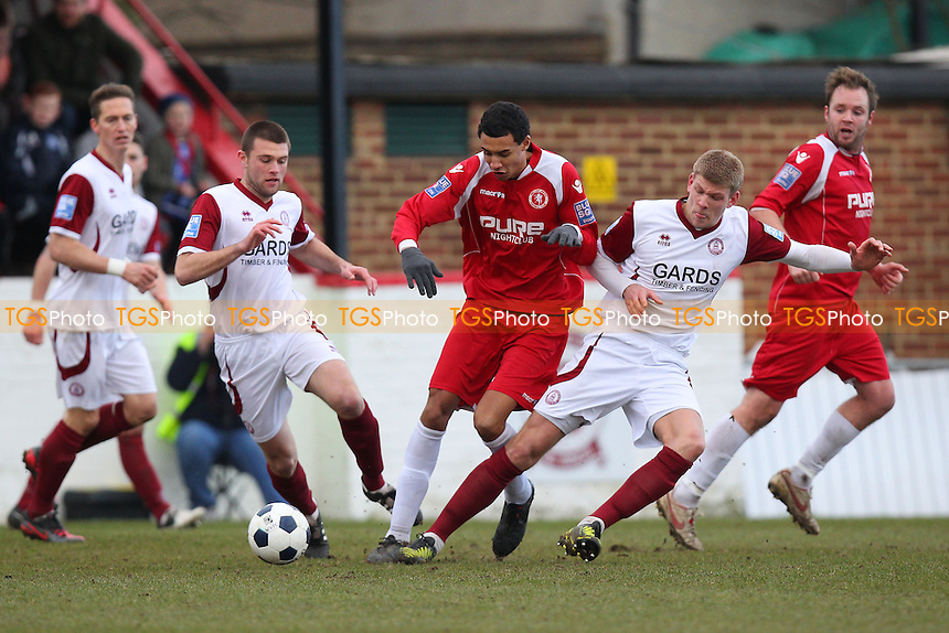 Mark Haines in action for Chelmsford - Welling United vs Chelmsford City - Blue Square Conference South Football at Park View Road - 29/03/13 - MANDATORY CREDIT: Gavin Ellis/TGSPHOTO - Self billing applies where appropriate - 0845 094 6026 - contact@tgsphoto.co.uk - NO UNPAID USE.