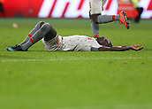 4th February 2019, London Stadium, London, England; EPL Premier League football, West Ham United versus Liverpool; Sadio Mane of Liverpool lying on the pitch after losing control of the ball