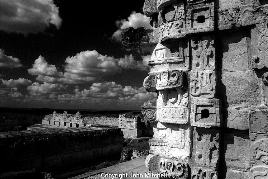 The Mayan ruins of Uxmal, Yucatan, Mexico. The Nunnery Qudrangle is in the background.