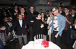 Scott Gorenstein, Daniel Nardicio, Grant Shaffer, Liza Minnelli & Alan Cumming attending the Liza Minnelli 67th Birthday Celebration at the Copa in New York City on 3/13/2013..