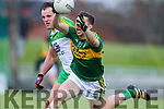 Marc O'Se, Kerry, in action against Michael Murphy, Donegal, in the national Football League, Division 1, Round 4, at Austin Stack Park, Tralee on Sunday.