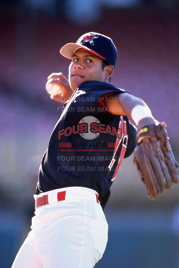 1996: Bobby Abreu of the Tucson Toros before game at Cashman Field in Las Vegas,NV.  Photo by Larry Goren/Four Seam Images