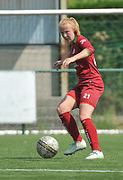 20180804 - ZULTE , BELGIUM : Zulte Waregem's Julie Devos pictured during a friendly soccer match between the women teams of Zulte Waregem and Bosdam Beveren  , during the preparation of the 2018-2019 season, Saturday 4 August 2018 . PHOTO DIRK VUYLSTEKE / SPORTPIX.BE
