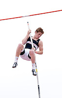 Isaac Grieder (cq) of Lake Highlands High School looks at the mat after missing his final chance at jumping over the 14 foot mark in the Varsity Boys Pole Vault during the Eddie Payne Relays track and field event at John E. Kincaide Stadium in Dallas, Texas, Saturday, March 29, 2008. Grieder came in second with a mark of 13 feet six inches...MATT NAGER/ SPECIAL CONTRIBUTER