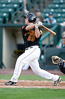 June 21, 2009:  Catcher Jeff Christy of the Rochester Red Wings at bat during a game at Frontier Field in Rochester, NY.  The Rochester Red Wings are the International League Triple-A affiliate of the Minnesota Twins.  Photo by:  Mike Janes/Four Seam Images