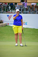 Angela Stanford (USA) lines up her putt on 9 during round 2 of  the Volunteers of America Texas Shootout Presented by JTBC, at the Las Colinas Country Club in Irving, Texas, USA. 4/28/2017.<br /> Picture: Golffile | Ken Murray<br /> <br /> <br /> All photo usage must carry mandatory copyright credit (&copy; Golffile | Ken Murray)