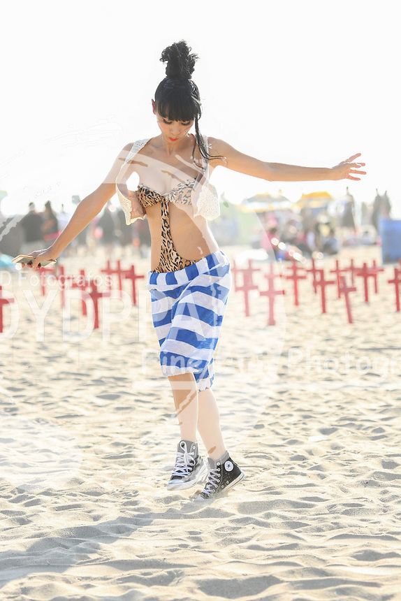 **ALL ROUND PICTURES FROM SOLARPIX.COM**<br /> **SOLARPIX RIGHTS - UK, AUSTRALIA, DENMARK, PORTUGAL, S. AFRICA, SPAIN &amp; DUBAI (U.A.E) &amp; ASIA (EXCLUDING JAPAN) ONLY**<br /> Caption:<br /> Bai Ling 2016 doing a Memorial Day Photoshoot at Santa Monica Beach -Pacific Coast Highway - Santa Monica La<br /> <br /> **U.K ONLINE USAGE &pound;25 PER PIC**<br /> JOB REF:19313   PHZ/JMX  DATE:30.05.16<br /> **MUST CREDIT SOLARPIX.COM AS CONDITION OF PUBLICATION**<br /> **CALL US ON: +34 952 811 768**