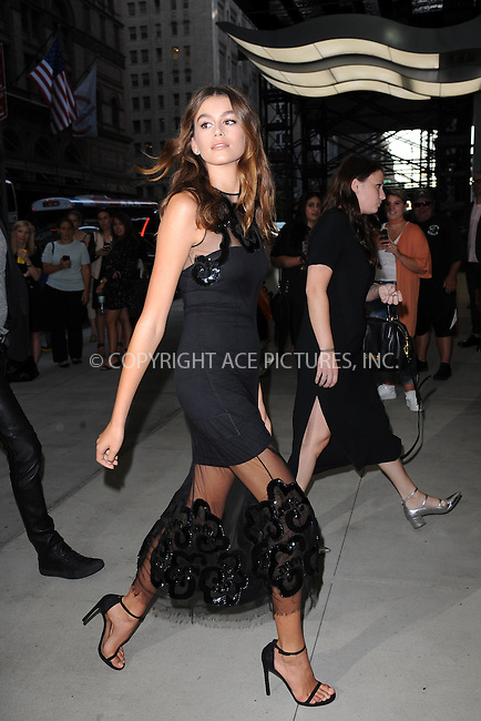 www.acepixs.com<br /> September 8, 2016  New York City<br /> <br /> Kaia Gerber attending the The Daily Front Row's 4th Annual Fashion Media Awards at Park Hyatt New York on September 8, 2016 in New York City. <br /> <br /> <br /> Credit: Kristin Callahan/ACE Pictures<br /> <br /> <br /> Tel: 646 769 0430<br /> Email: info@acepixs.com